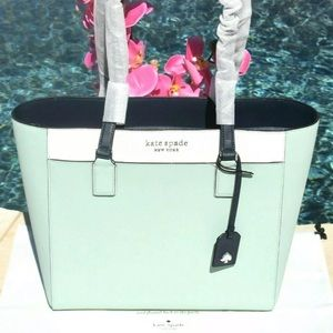 Kate Spade Cameron Colorblock Laptop Spring Meadow